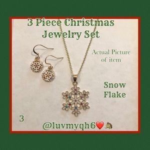 3 Piece Jewelry Set Snow Flake